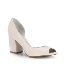 Women's court shoes, light beige, 86-D-558-9-38, Photo 1