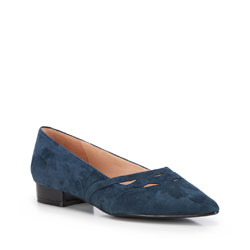 Women's ballerina shoes, navy blue, 86-D-602-7-36, Photo 1