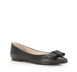 Women's ballerina shoes, black, 86-D-603-1-39, Photo 1