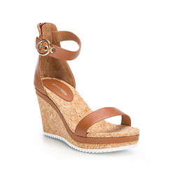 Buty damskie, brązowy, 86-D-604-4-39, Zdjęcie 1