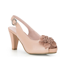 Buty damskie, beżowy, 86-D-605-9-37, Zdjęcie 1