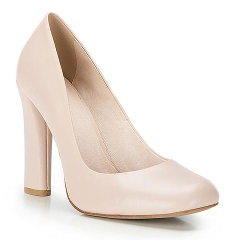 Buty damskie, jasny beż, 86-D-651-9-35, Zdjęcie 1