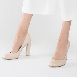 Buty damskie, jasny beż, 86-D-651-9-38, Zdjęcie 1