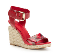 Women's wedge sandals, red, 86-D-653-2-40, Photo 1