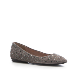 Women's ballerina shoes, grey, 86-D-656-8-37, Photo 1