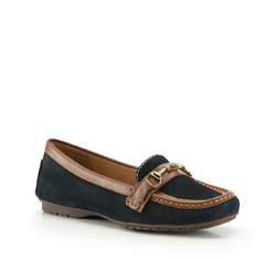 Women's moccasins, navy blue, 86-D-704-7-36, Photo 1