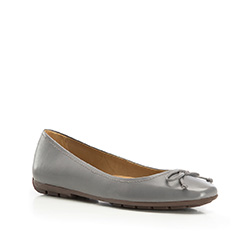 Women's ballerina shoes, grey, 86-D-708-8-35, Photo 1