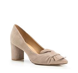 Buty damskie, ciemny  beż, 86-D-709-4-35, Zdjęcie 1