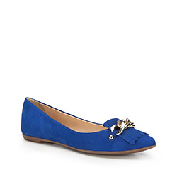 Women's ballerina shoes, blue, 86-D-752-N-39, Photo 1