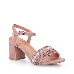 Buty damskie, zgaszony róż, 86-D-919-P-38, Zdjęcie 1