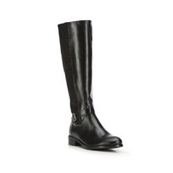 WOMEN'S KNEE HIGH BOOTS, black, 87-D-200-1-36, Photo 1