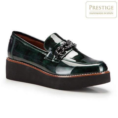 Buty damskie, zielony, 87-D-455-Z-35, Zdjęcie 1