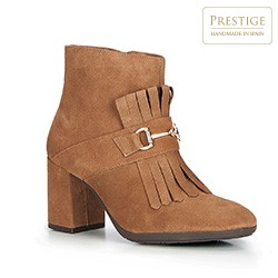 Women's ankle boots, light brown, 87-D-458-5-41, Photo 1