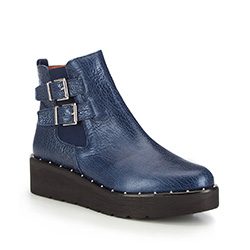 Women's ankle boots, navy blue, 87-D-461-7-37, Photo 1