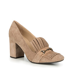 Women's court shoes, beige, 87-D-700-9-35, Photo 1