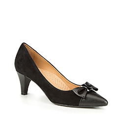 Women's court shoes, black, 87-D-705-1-38, Photo 1
