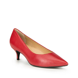 Women's court shoes, red, 87-D-706-3-38, Photo 1