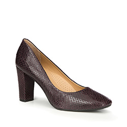 Women's court shoes, black-violet, 87-D-708-9-38, Photo 1