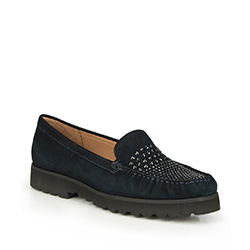 Women's shoes, navy blue, 87-D-712-7-36, Photo 1
