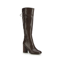 Women's knee high boots, dark brown, 87-D-902-4-38, Photo 1