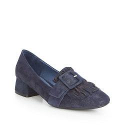 Women's court shoes, navy blue, 87-D-918-7-35, Photo 1