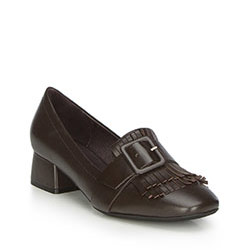 Women's shoes, dark brown, 87-D-919-4-39, Photo 1