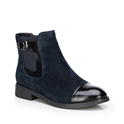 Women's ankle boots, navy blue, 87-D-956-7-35, Photo 1