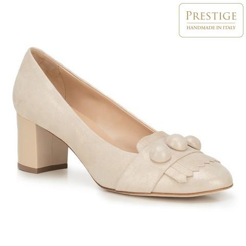Buty damskie, kremowy, 88-D-103-9-38_5, Zdjęcie 1