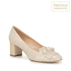 Buty damskie, kremowy, 88-D-103-9-37_5, Zdjęcie 1