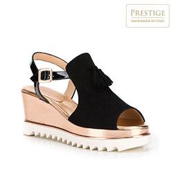 Buty damskie, czarno - złoty, 88-D-108-1-38, Zdjęcie 1