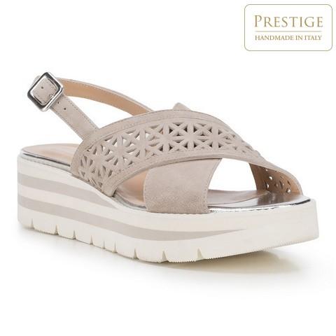 Buty damskie, szaro - biały, 88-D-110-9-38, Zdjęcie 1