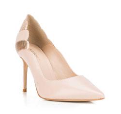 Buty damskie, beżowo - złoty, 88-D-252-9-37, Zdjęcie 1