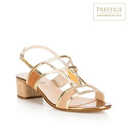 Buty damskie, beżowo - złoty, 88-D-400-9-39, Zdjęcie 1