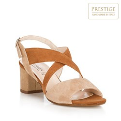 Buty damskie, beżowo - brązowy, 88-D-403-9-39, Zdjęcie 1