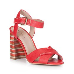 Buty damskie, czerwony, 88-D-557-3-35, Zdjęcie 1