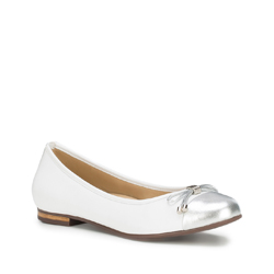 Buty damskie, biało - srebrny, 88-D-705-0-37, Zdjęcie 1