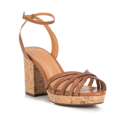 Women's sandals, brown, 88-D-708-4-41, Photo 1