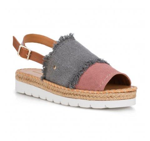 Buty damskie, szaro - różowy, 88-D-709-X-35, Zdjęcie 1
