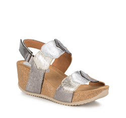 Buty damskie, srebrno - złoty, 88-D-711-8-35, Zdjęcie 1