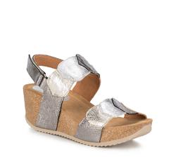 Buty damskie, srebrno - złoty, 88-D-711-8-37, Zdjęcie 1