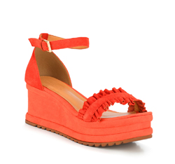 Buty damskie, pomarańczowy, 88-D-712-6-35, Zdjęcie 1