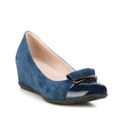 Women's shoes, navy blue, 88-D-953-7-38, Photo 1