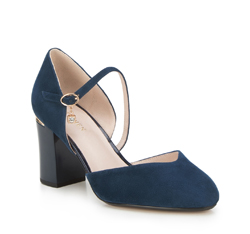 Women's court shoes, navy blue, 88-D-955-7-36, Photo 1