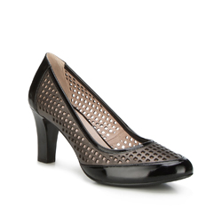 Buty damskie, czarno - brązowy, 88-D-956-1-40, Zdjęcie 1