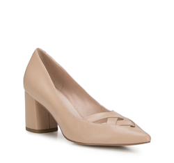 Women's court shoes, light beige, 88-D-957-9-37, Photo 1