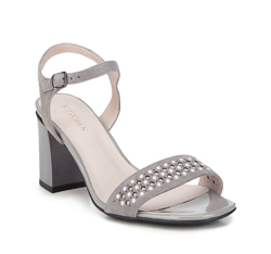 Women's sandals, grey, 88-D-968-8-41, Photo 1