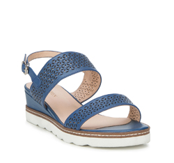 Women's sandals, navy blue, 88-D-970-7-40, Photo 1
