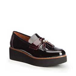 Women's shoes, navy blue-burgundy, 89-D-450-1-38, Photo 1