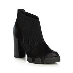 Buty damskie, czarny, 89-D-958-1-37, Zdjęcie 1