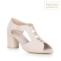 Women's shoes, light beige, 90-D-650-9-35, Photo 1